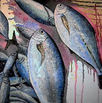 Wasser, Fische, Aquarellmalerei, Aquarell