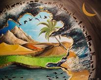 Natur, Welt, Pflanzen, Acrylmalerei