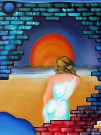 Malerei, Surreal, Liebe, Sehnsucht