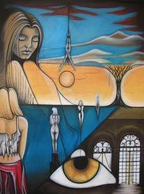 Malerei, Surreal, Lebensbaum