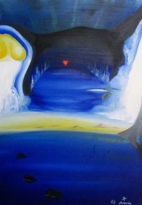 Malerei, Surreal, Eis, Verborgen