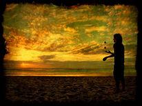 Fotografie, Frankreich, Jonglieren, Sonnenuntergang