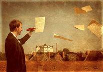 Schreiben, Surreal, Feder, Geschichte