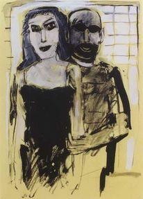 Expressionismus, Malerei, Portrait, Grafik