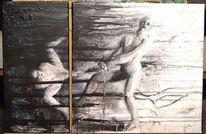 Figural, Dunkel, Schwarz weiß, Figur