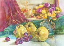 Natur, Glas, Stillleben, Malerei