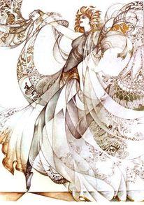 Frau, Symbol, Ornament, Grafik