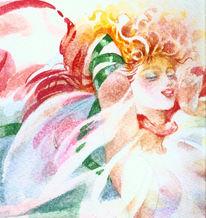 Pflanzen, Aquarellmalerei, Blumen, Grafik