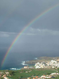Spanien, Wolken, Regenbogen, Landschaft