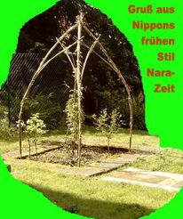 Armierungstahlfüße, Bambus, Holz, Kunsthandwerk