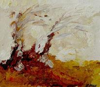 Herbst, Baum, Braun, Acrylmalerei