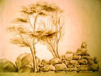Stein, Skizze, Mauer, Zeichnung