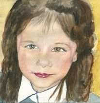 Portrait, Kind, Figural, Malerei