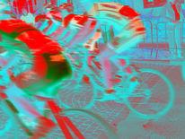 Digital, Sport, Radrennsport, Digitale kunst