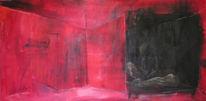 Raum, Rot schwarz, Akt, Figur