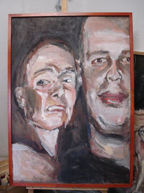 Liebe, Malerei, Zweisamkeit, Paar