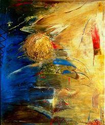 Licht, Mond, Abstrakt, Malerei