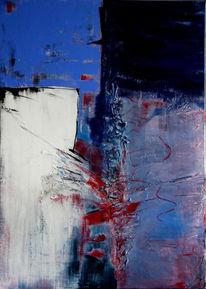 Malerei, Abstrakt, Himmel, Blau