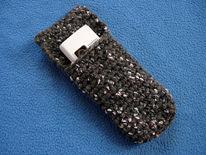 Tasche, Telefon, Wolle, Design
