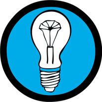 Blau, Grafik, Glühlampe, Logo