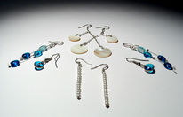 Blau, Schmuck, Ohrringe, Design