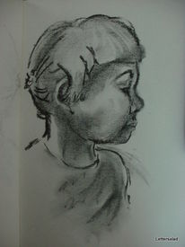 Profil, Skizze, Zeichnung, Kind