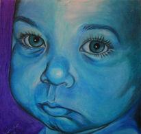 Schmollen, Kind, Malerei, Augen