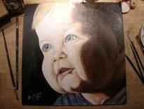 Augen, Portrait, Kontrast, Kind