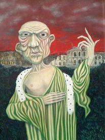 Peymann, Malerei, Figural, Burgtheater