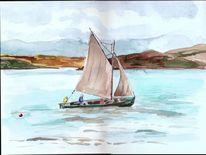 Baltimore segler irland, Aquarell, Irland, Segler