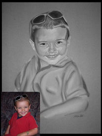 Portraitzeichnung, Zeichnung, Figural, Fotografie
