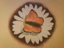 Stillleben, Pastellmalerei, Blumen, Margerite