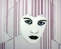 Figural, Wit, Acrylmalerei, Rot