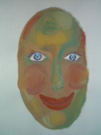 Augen, Lippen, Abstrakt, Nase