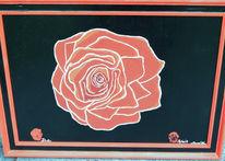 Rot schwarz, Rose, Malerei, Pflanzen