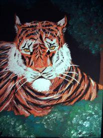 Figural, Tiger, Malerei, Tiere