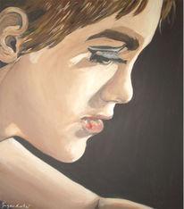 Figural, Mädchen, Acrylmalerei, Sinnlichkeit