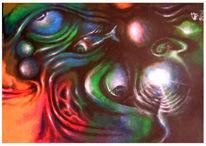 Augen, Chaos, Malerei, Surreal