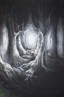 Dunkel, Fantasiewesen, Groß, Wald