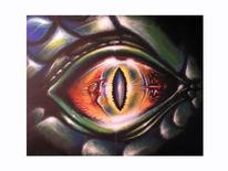 Augen, Reptil, Malerei, Portrait
