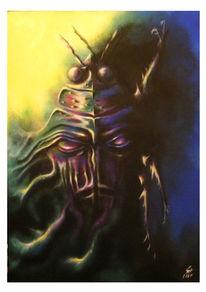 Surreal, Insekten, Gesicht, Malerei