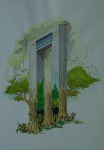 Surreal, Zeichnung, Zeichnungen, Vielfalt