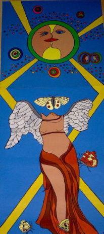 Gemälde, Flosse, Vogel, Modern