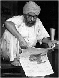 Menschen, Indien, Sikh, Urdu