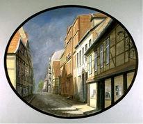Stadt, Architektur, Realismus, Malerei