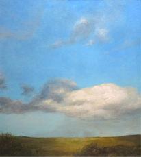 Malerei, Landschaft, Himmel, Wolken