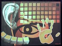 Malerei, Synästhesie, Darksys, Rot schwarz