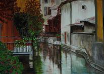 Kanal, Spiegelung, Wasser, Fenster