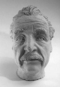Figural, Skulptur, Plastik, Einstein
