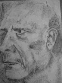 Picasso, Portrait, Skizze, Zeichnung